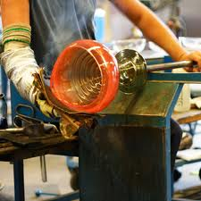 Artisan blowin glass.