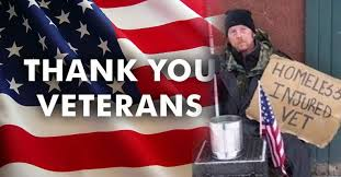 We thank our Veterans by allowing them to live under bridges and on our streets.