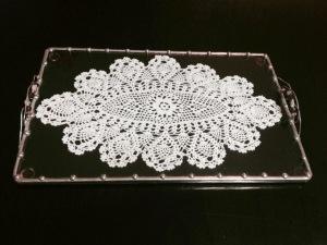 Fancy work between beveled Glass